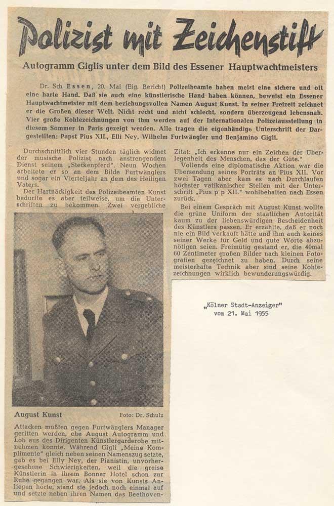 Press report 1955