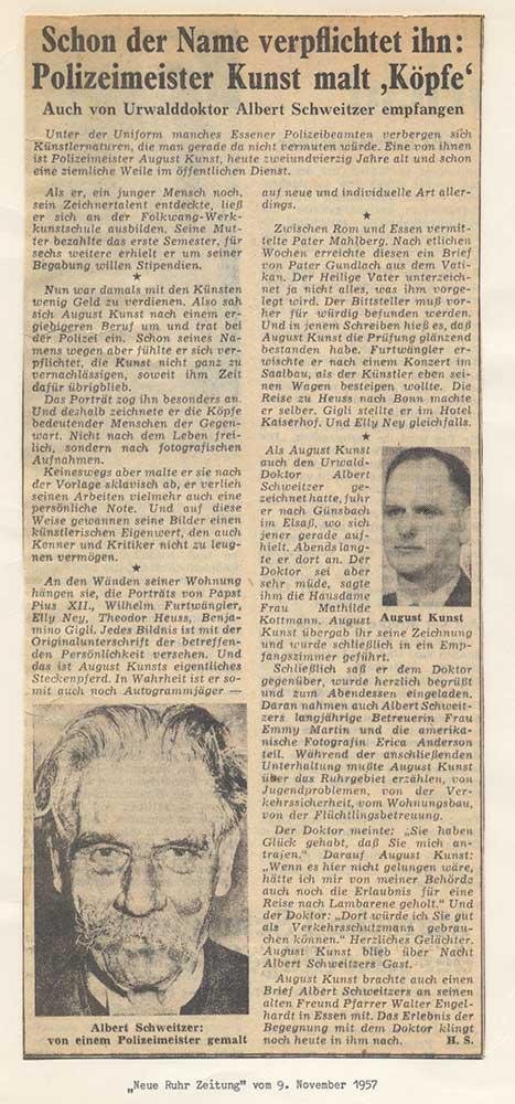 Press report 1957