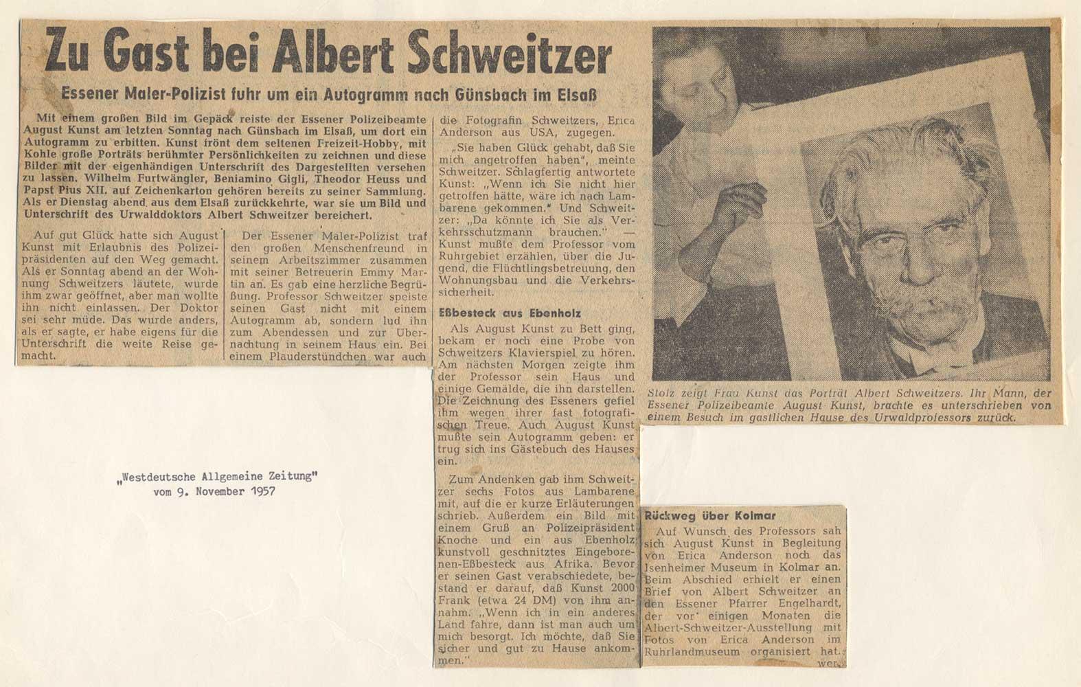 Guest of Albert Schweitzer